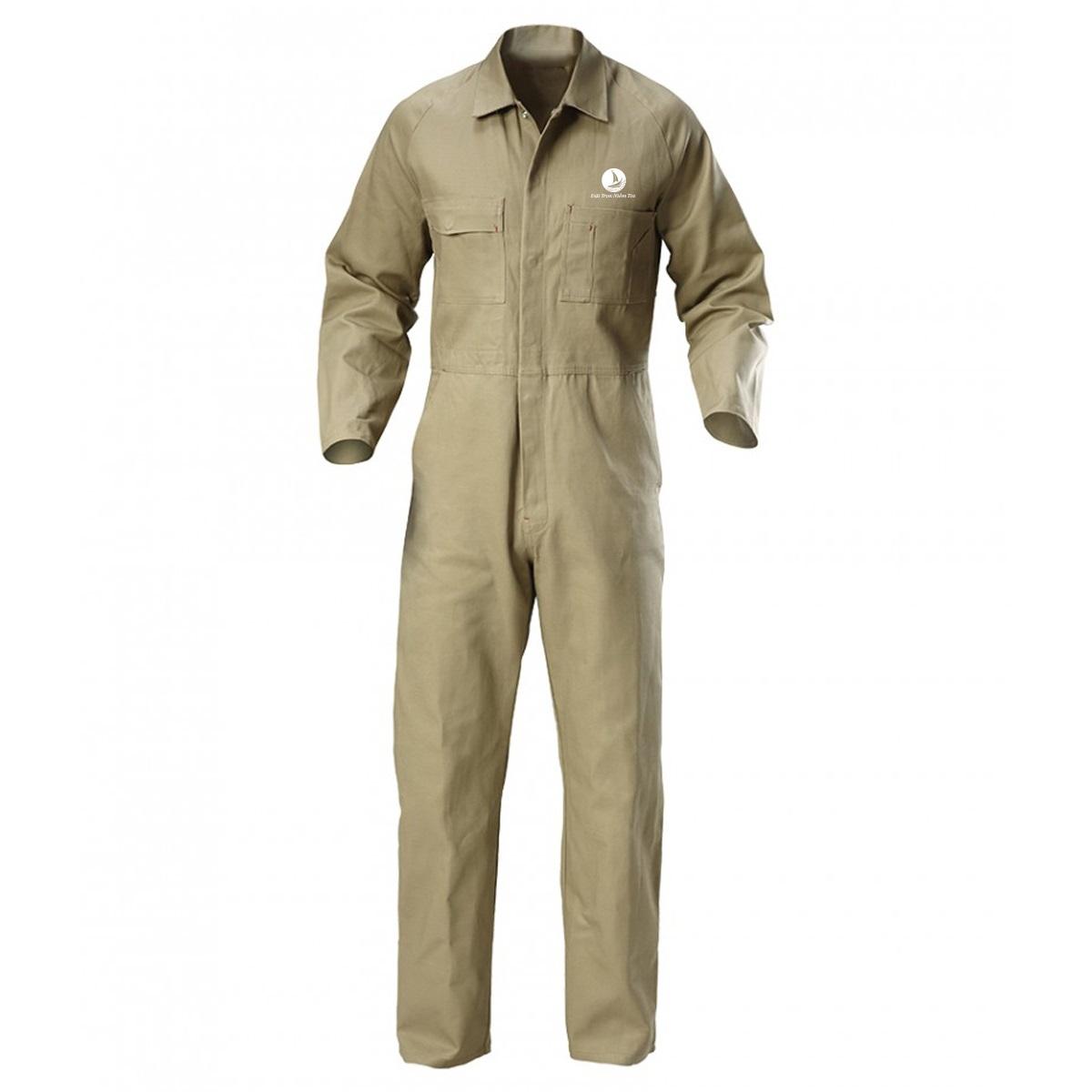 Mẫu đồng phục bảo hộ áo liền quần mã BO-ALQ01 – Be