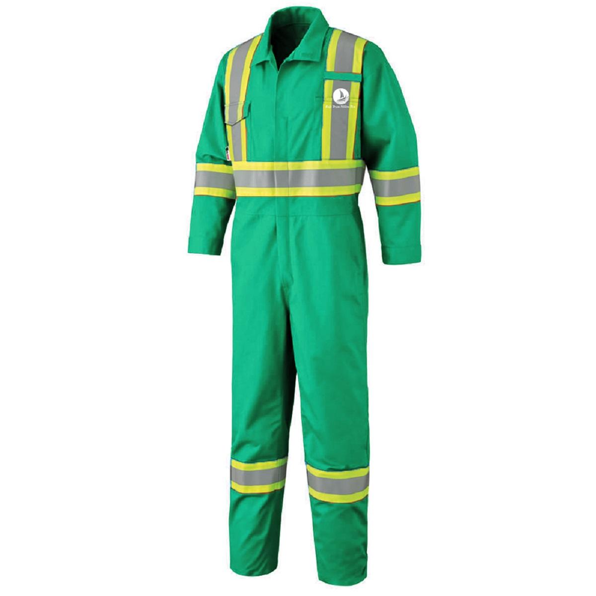 Mẫu đồng phục áo liền quần bảo hộ mã BO-ALQ02 – Xanh Lá