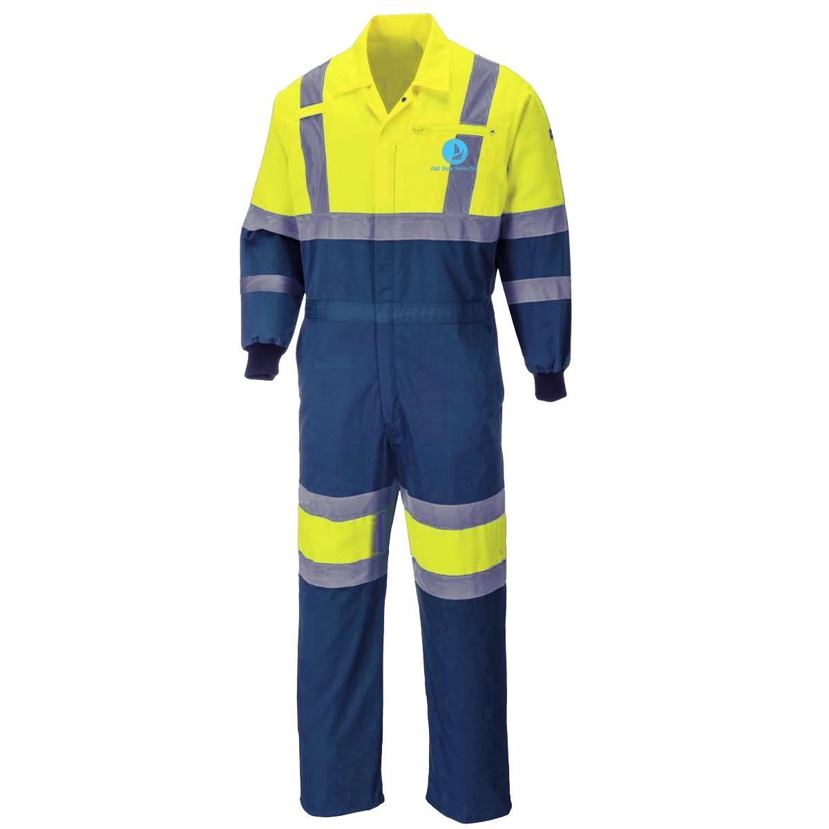 Mẫu đồng phục áo liền quần bảo hộ BO-ALQ01 – Xanh Dương