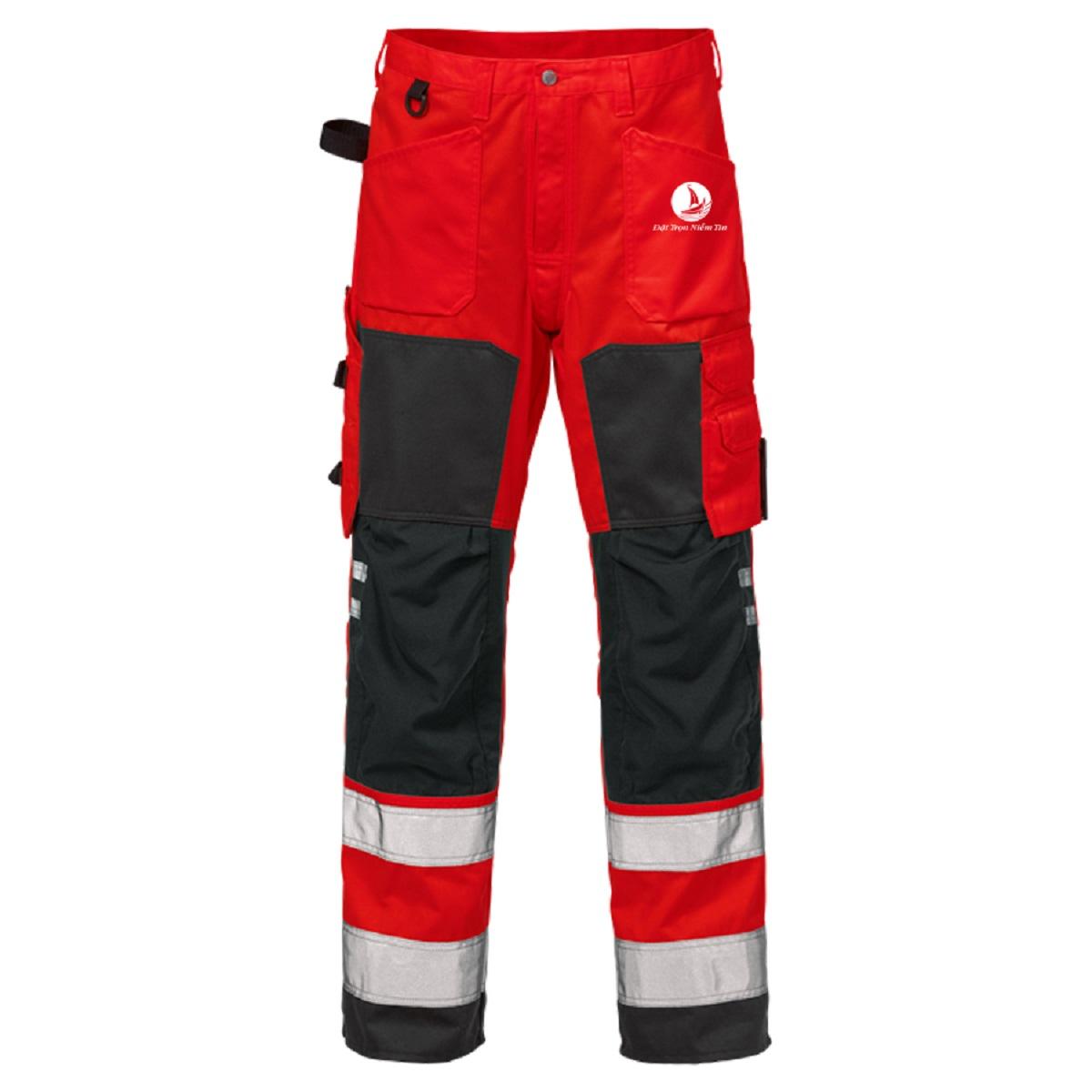 Mẫu đồng phục bảo hộ quần mã BO-QBH01 – Đỏ