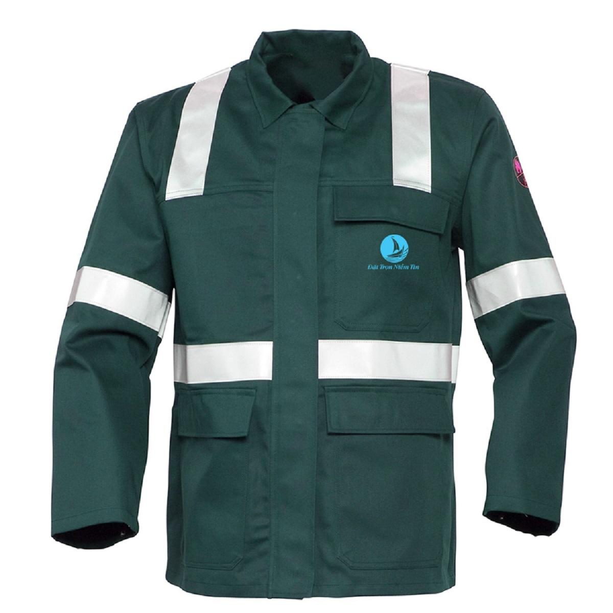 Mẫu đồng phục áo bảo hộ mã BO-ABH07 – Xanh Lá