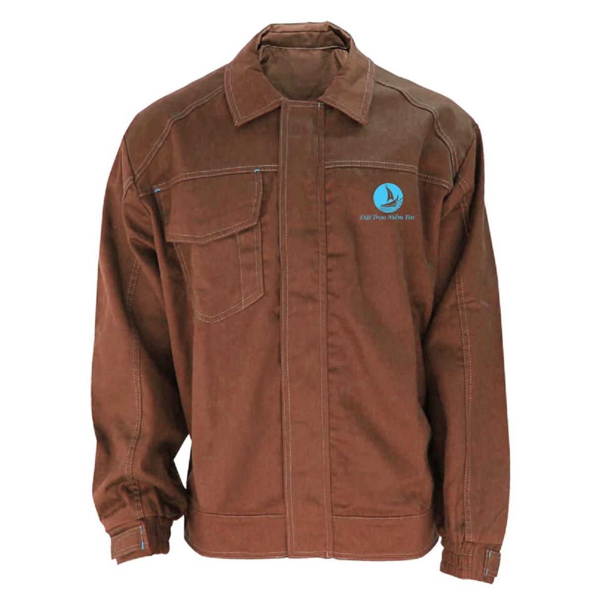 Mẫu đồng phục áo bảo hộ mã BO-ABH05 – Nâu