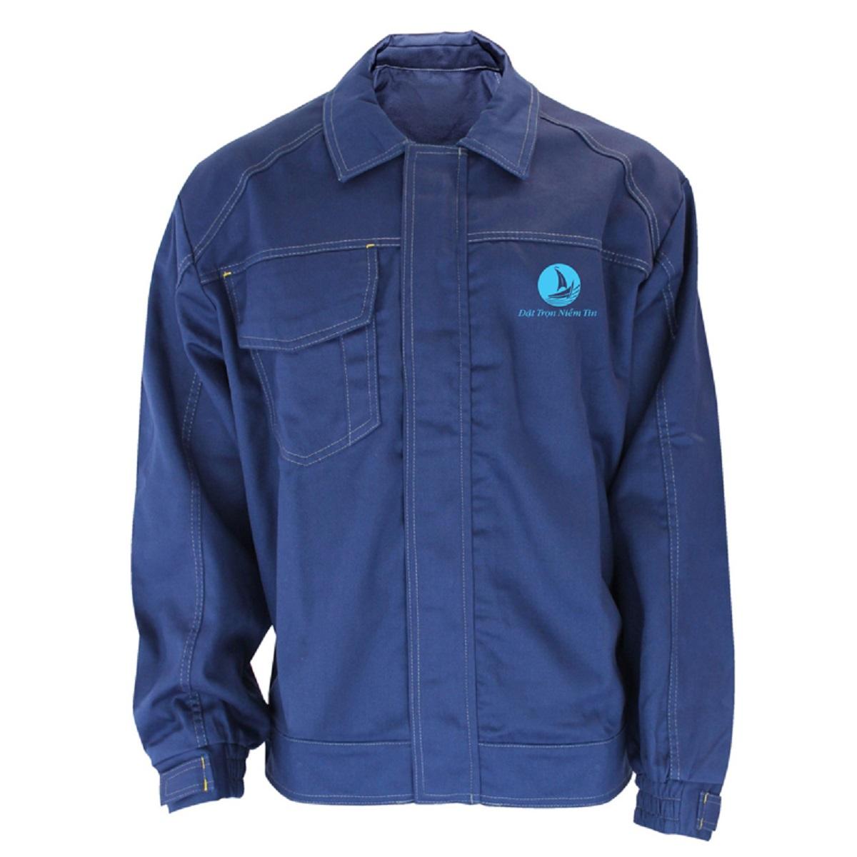 Mẫu đồng phục áo bảo hộ mã BO-ABH01 – Xanh Dương