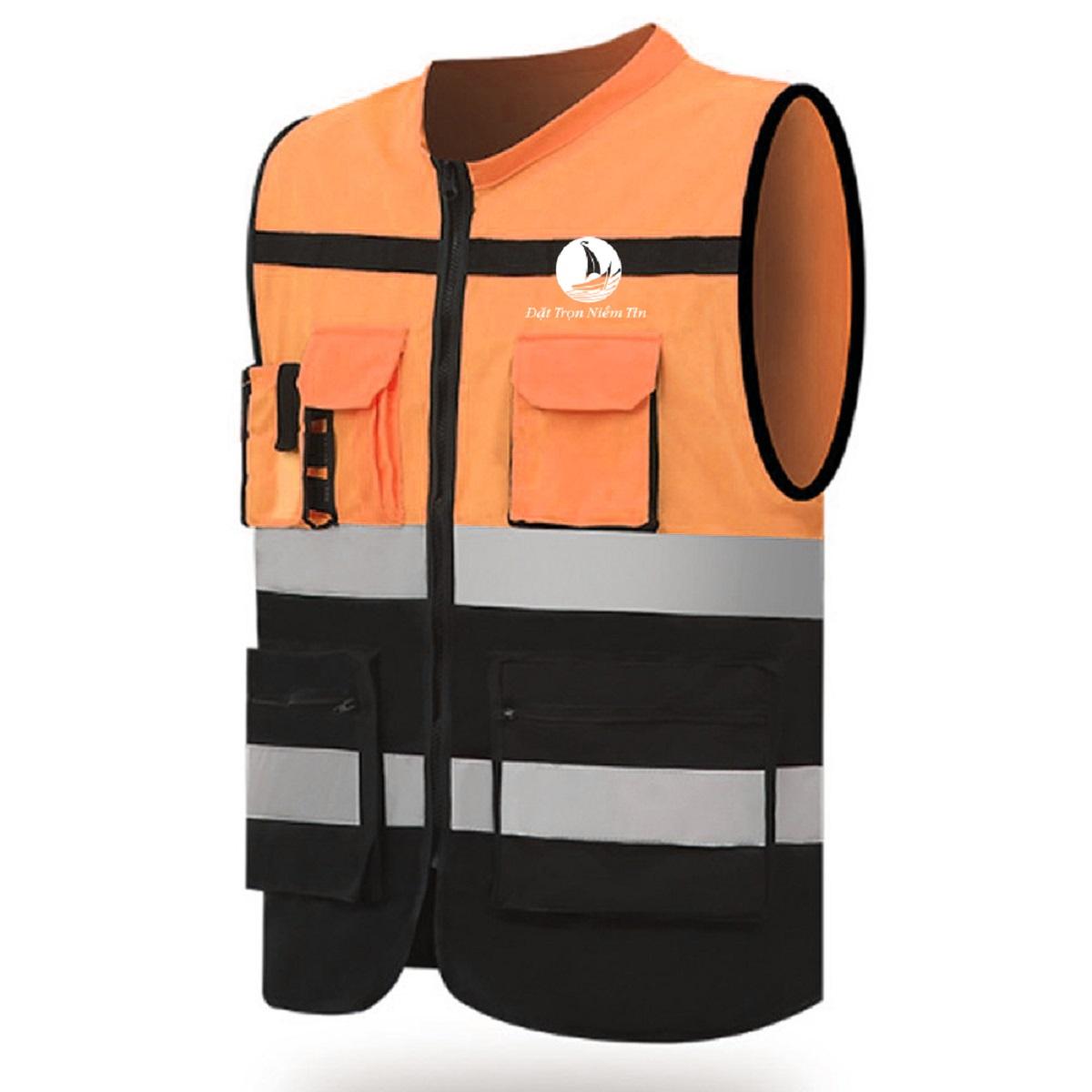 Đồng phục áo gile bảo hộ mã BO-GLBH02 – Cam