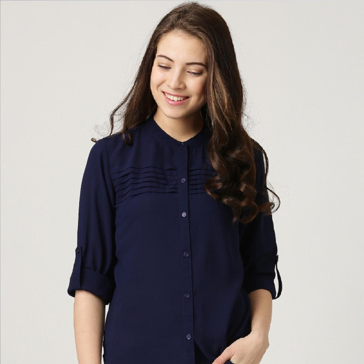 Form áo lên chuẩn dáng, tôn lên nét đẹp, sang cũng như sự thoải mái khi bạn vận động và làm việc.