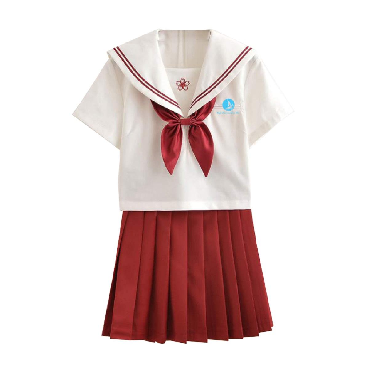 Mẫu đồng phục Mã BO – HSNU04 Đỏ