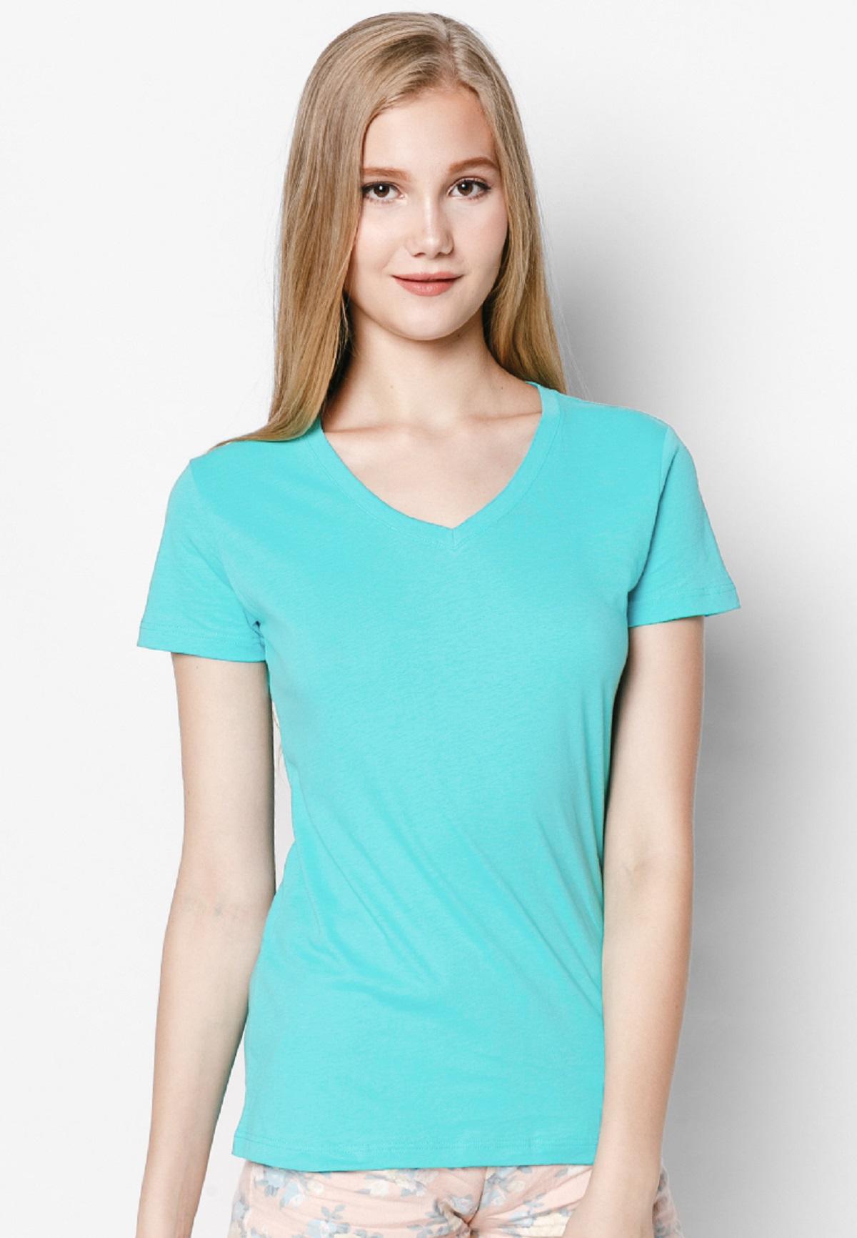 Áo thun T-shirt Nữ cổ tim