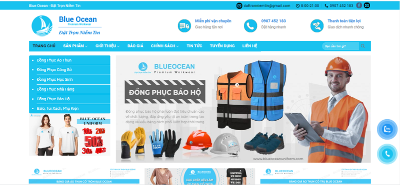 Công ty TNHH TM DV Blue Ocean uy tín, chất lượng.